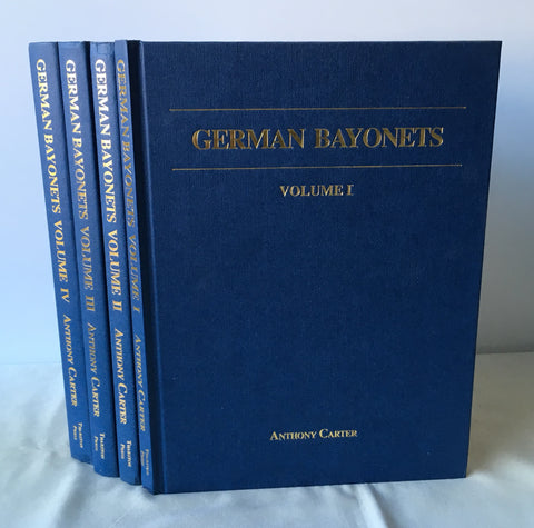Anthony Carter - Signed - German Bayonets: Complete in 4 Volumes - UK 1sts 1984-94