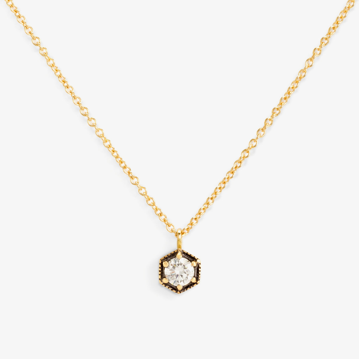 18K Yellow Gold (w/ Black Rhodium)