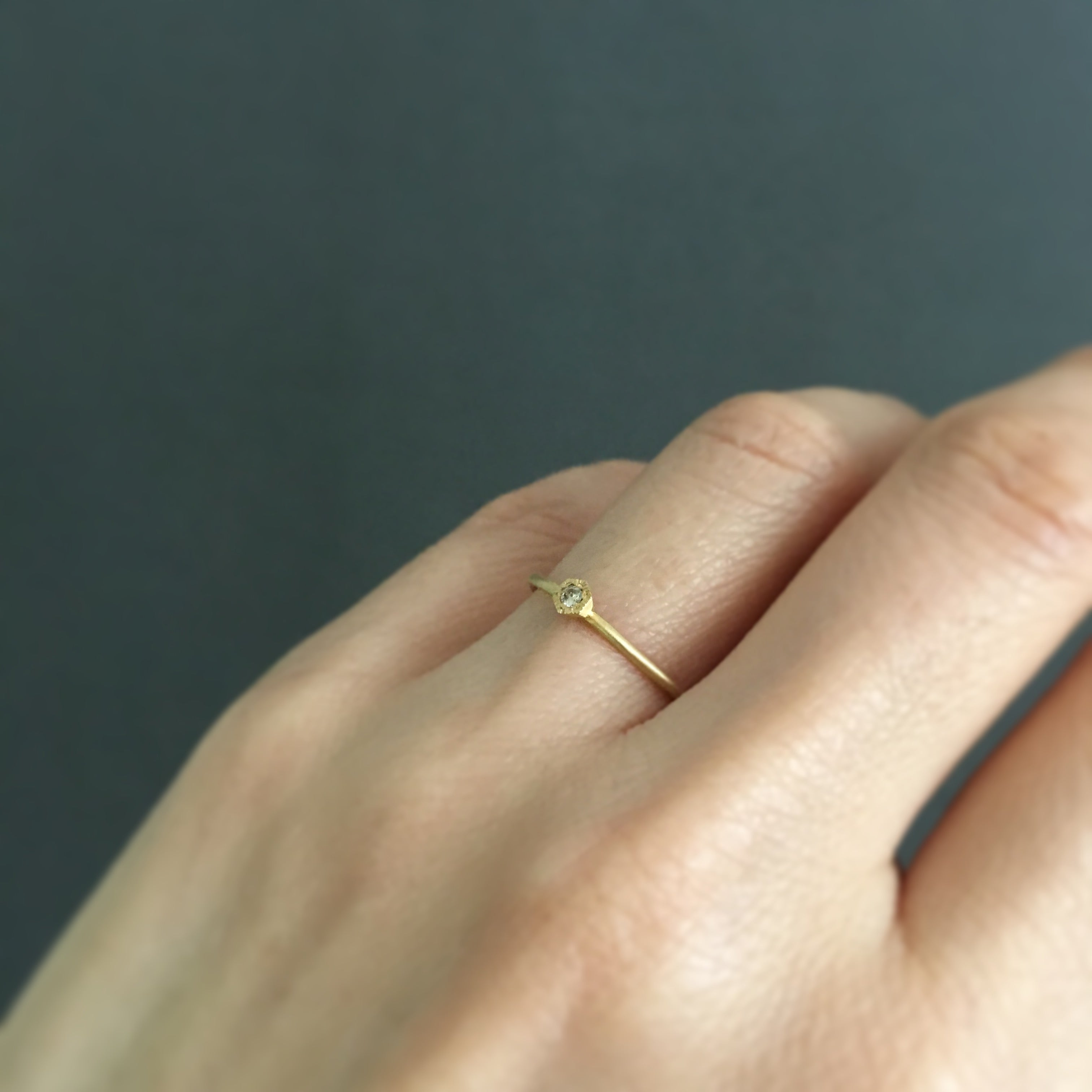 18K Yellow Gold on Model