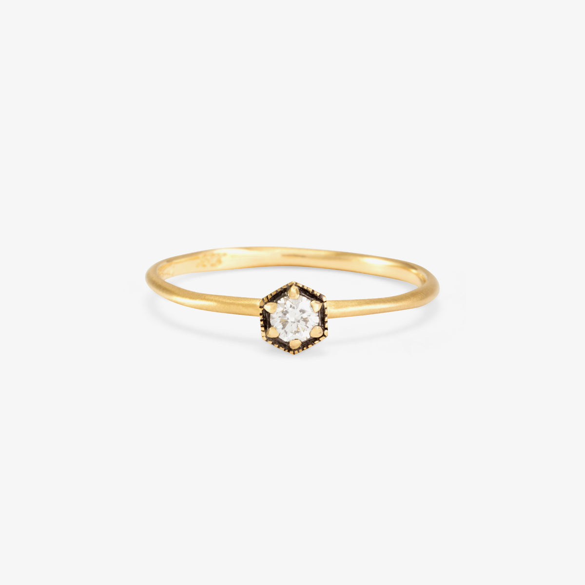 18K Yellow Gold(w/ Black Rhodium)