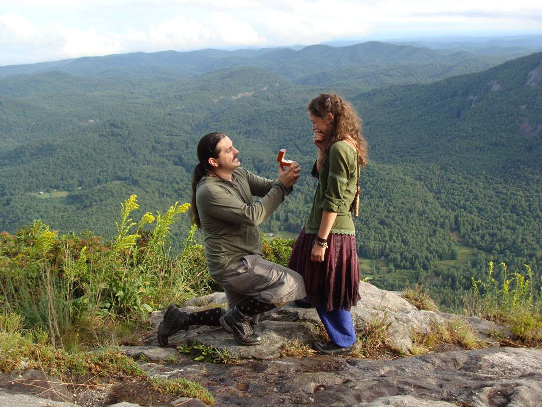 Mountain Top Marriage Proposal