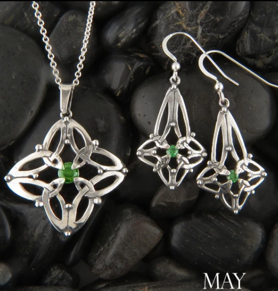 Nothing Symbolizes Celtic Heritage like our Month of May Emerald Birthstone Pieces