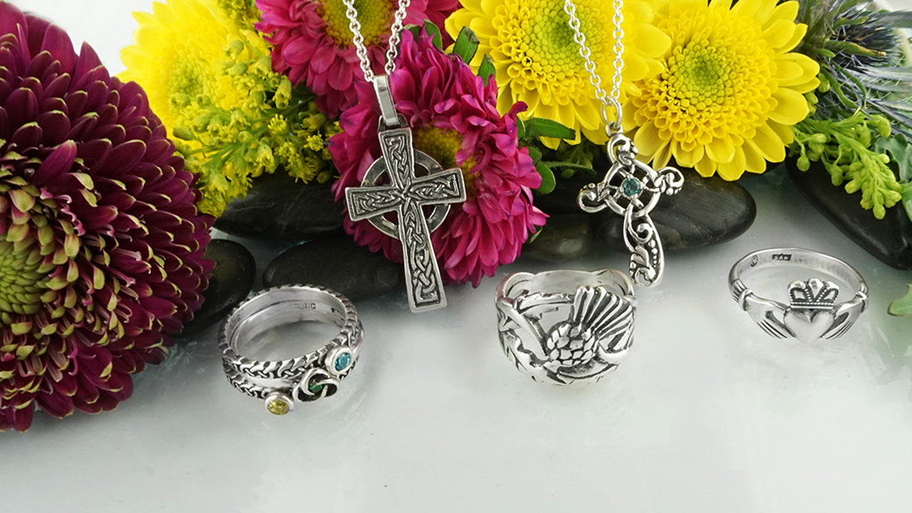 "Celebrating ""Bloomsday"" in June with Our Caring Cross Celtic Jewelry Piece"