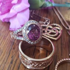 Malaya Garnet set in 14K Rose Gold