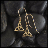 gold trinity knot triquetra earrings