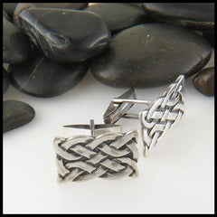 St. Andrew's knot Celtic cuff links