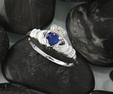 hand crafted celtic birthstone rings