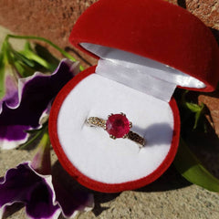 Ruby White Gold Ring