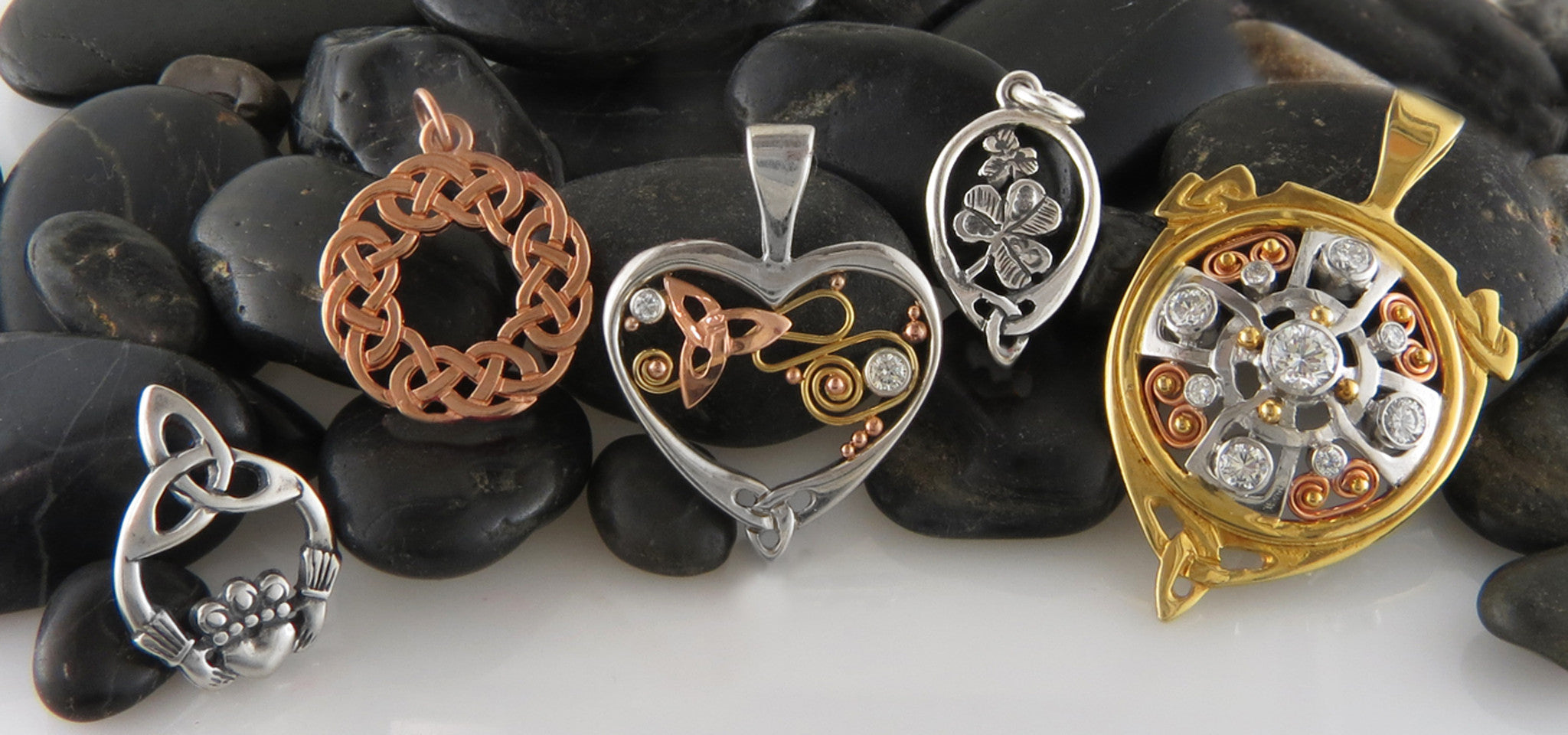 Celtic pendants in 14k gold and sterling silver tagged silver handcrafted celtic pendants and necklaces in sterling silver and gold are a fashionable statement of your heritage and faith our jewelry designers draw on mozeypictures Image collections
