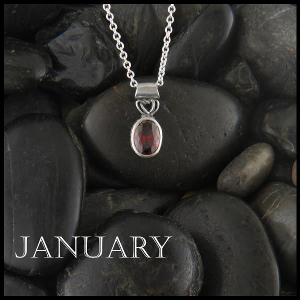 January Birthstone Celtic Pendant Slide