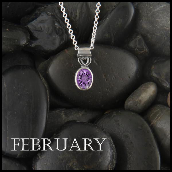 February Birthstone Celtic Pendant Slide