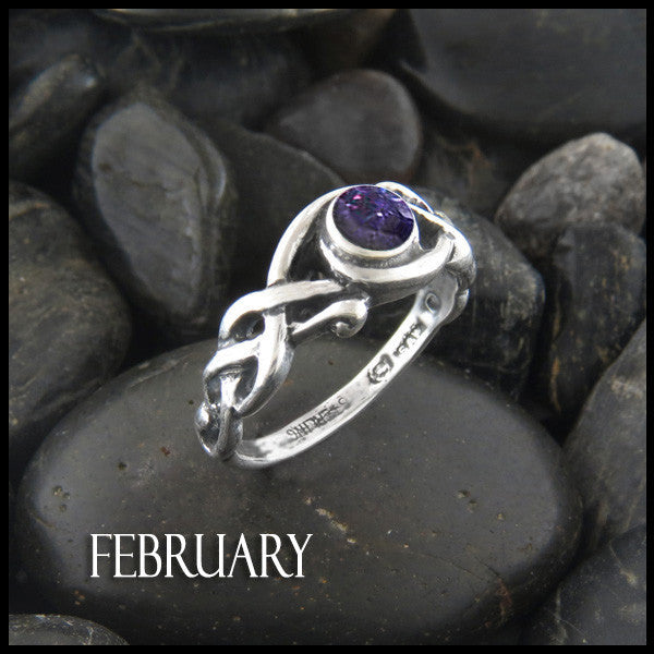 Birthstone Open Knot Ring