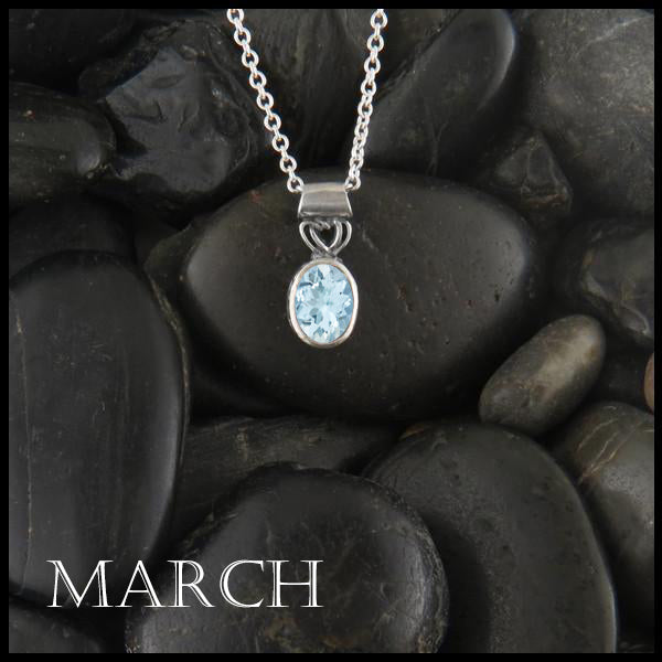 March Birthstone Celtic Pendant Slide