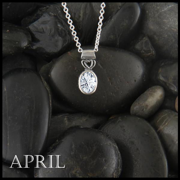 April Birthstone Celtic Pendant Slide