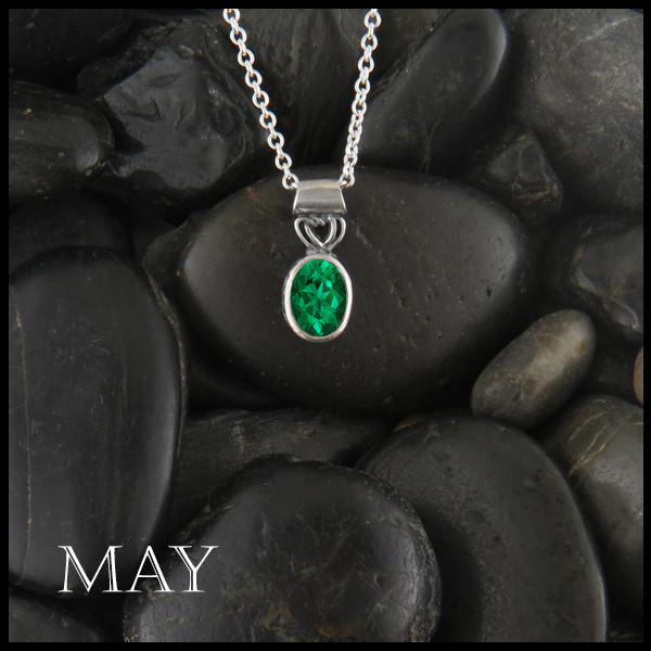 May Birthstone Celtic Pendant Slide
