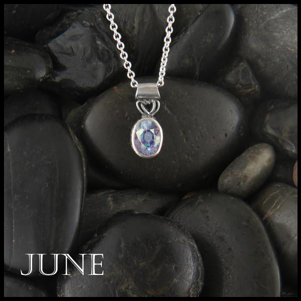June Birthstone Celtic Pendant Slide
