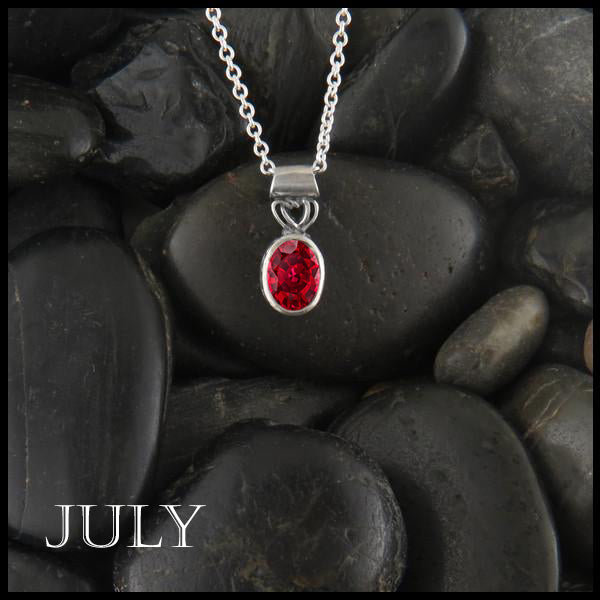 July Birthstone Celtic Pendant Slide
