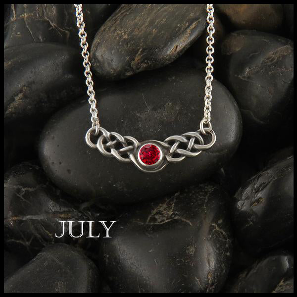 July Birthstone Celtic Necklace in Silver