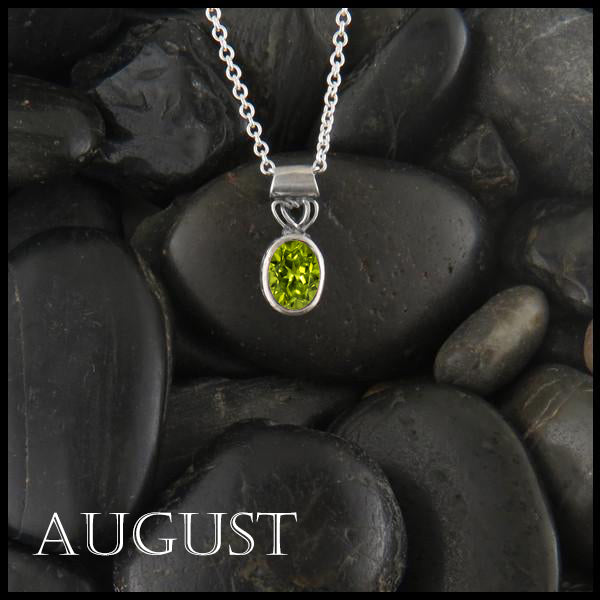 August Birthstone Celtic Pendant Slide