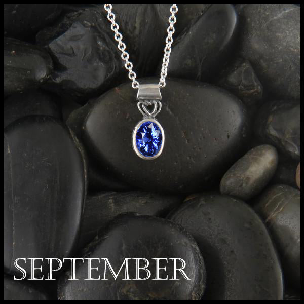 September Birthstone Celtic Pendant Slide