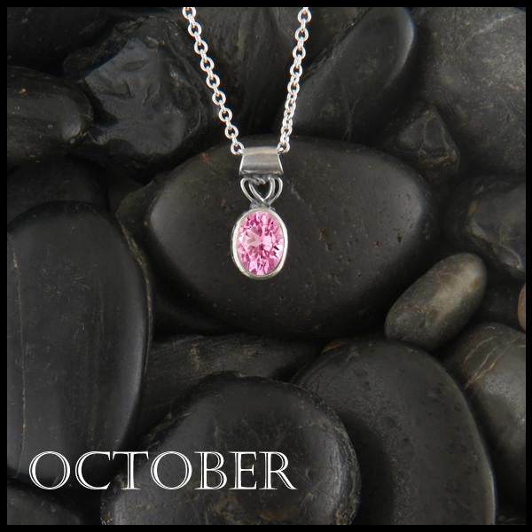 October Birthstone Celtic Pendant Slide