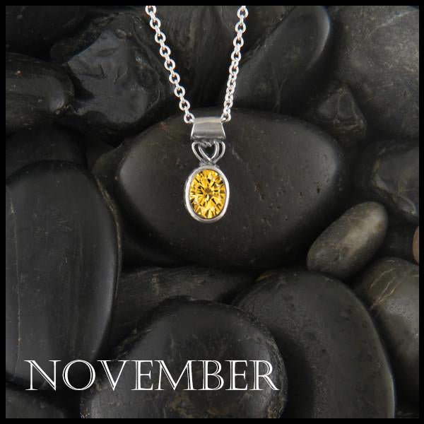 November Birthstone Celtic Pendant Slide