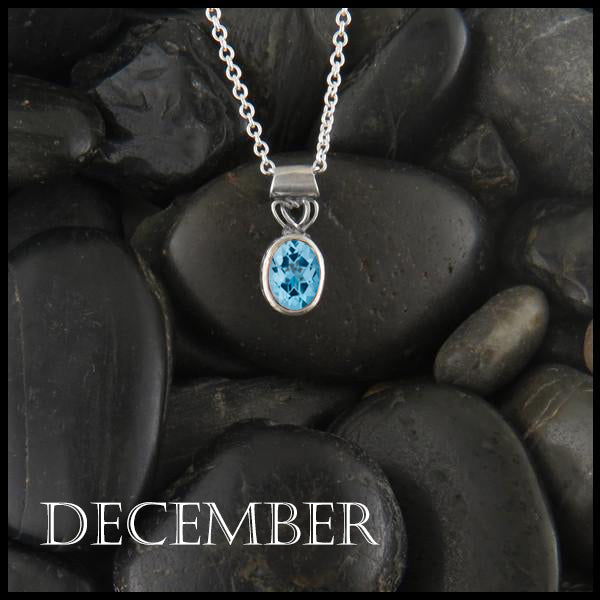 December Birthstone Celtic Pendant Slide