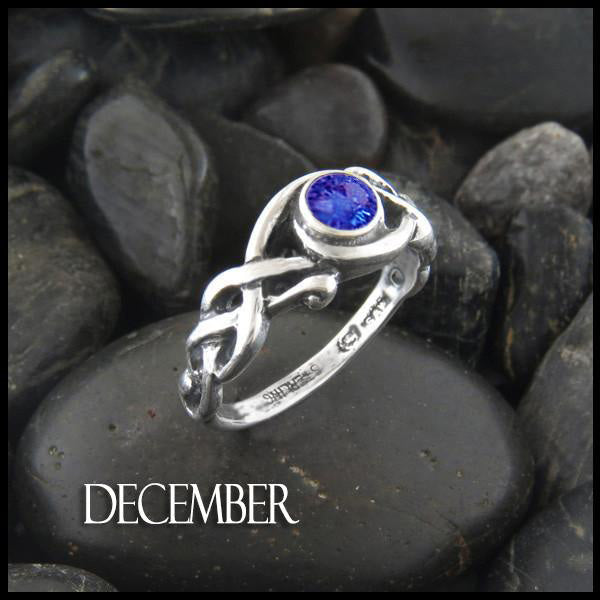 Birthstone Open Knot Ring in Silver