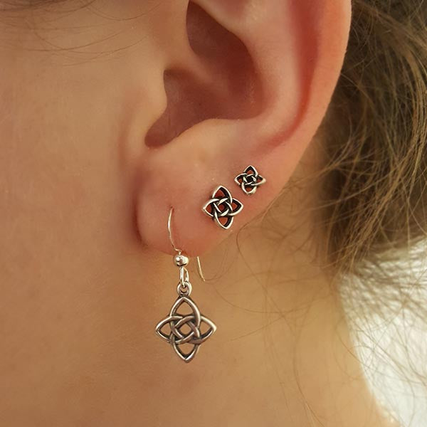 Celtic starlight knot post earrings