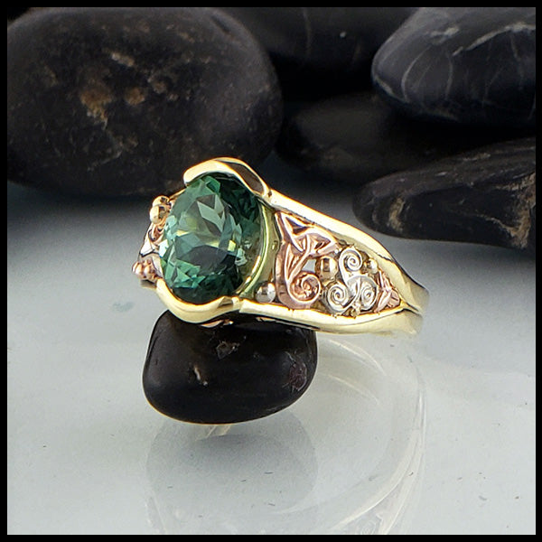 Chrome Tourmaline Custom Ring