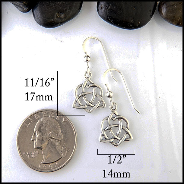 Celtic Trinity Heart Earrings by Walker Metalsmiths