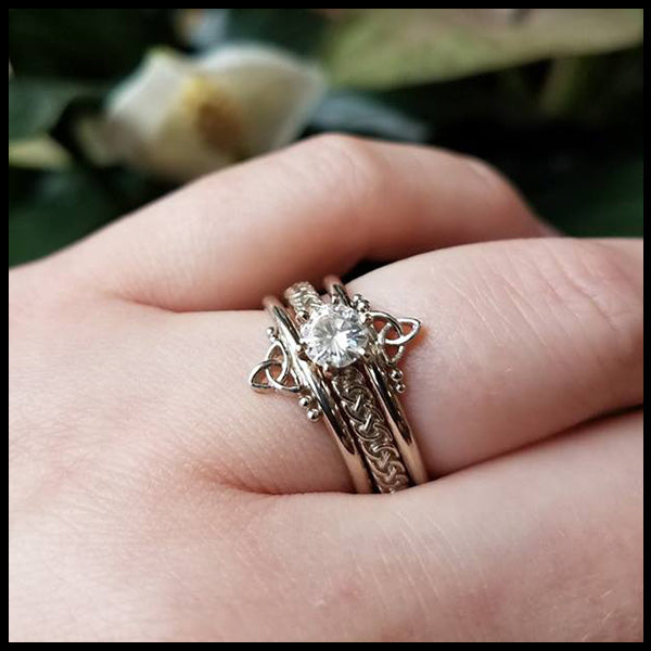 Celtic Engagement Wedding Set