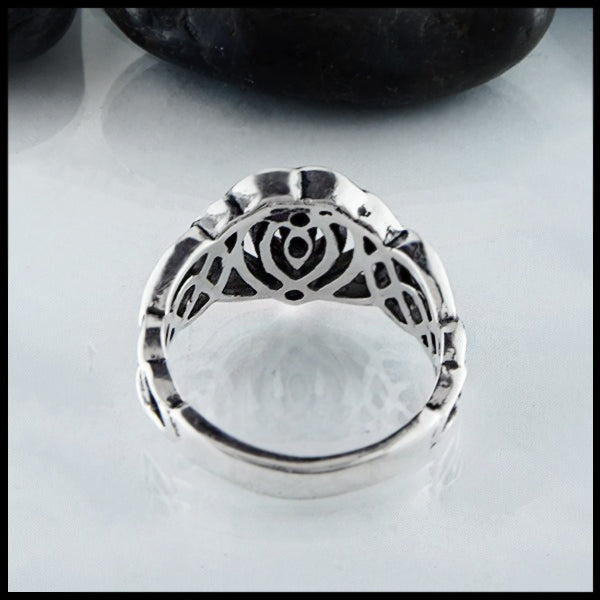 back view of Celtic Kathleens Heart Ring