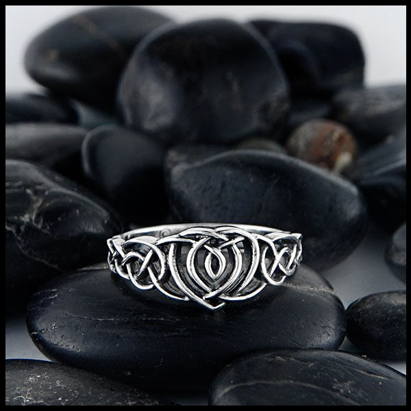 Kathleen Heart Celtic Ring