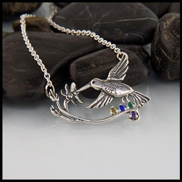 Hummingbird Pendant and earring set