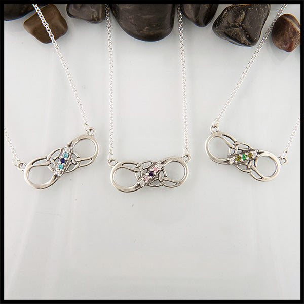 Ombre Celtic Infinity necklace