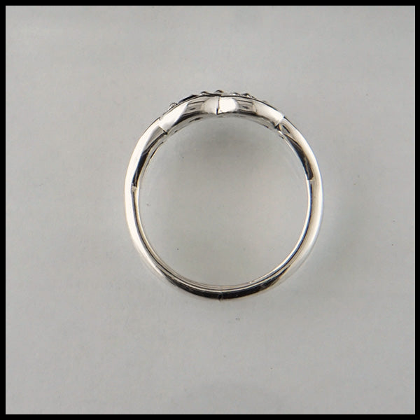 Profile View of Josephine's Mother's Ring in Silver