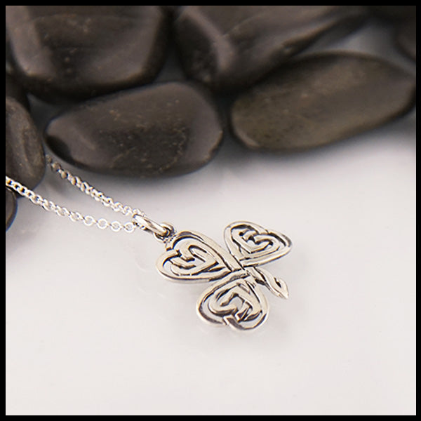 Sterling Silver Irish Shamrock Pendant