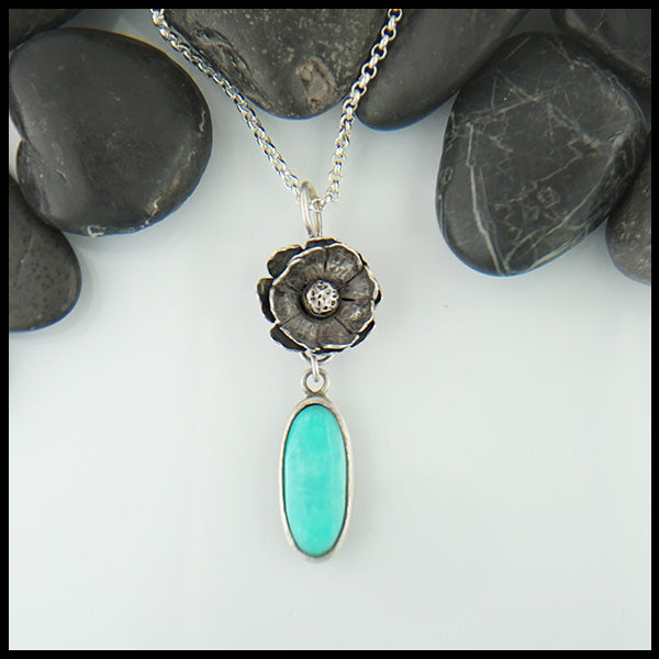 Floral Turquoise Pendant