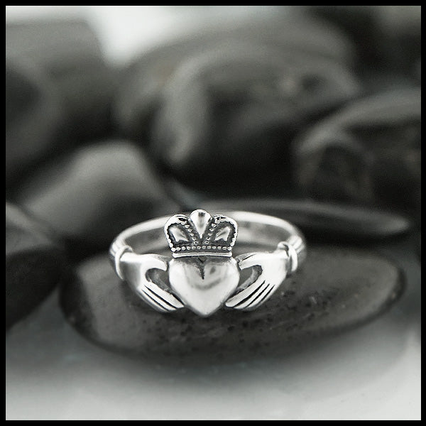 Walker Metalsmiths custom designed Claddagh Rings
