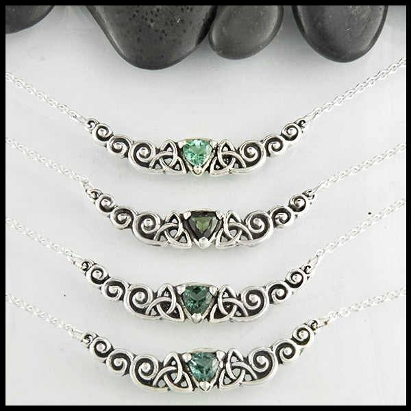 Walker Metalsmiths Celtic Jewelry Tourmaline Necklace