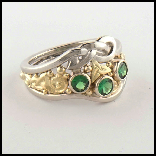 Custom Tsavorite Celtic Ring
