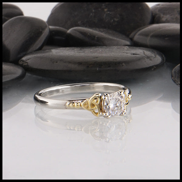 Moissanite Celtic Ring