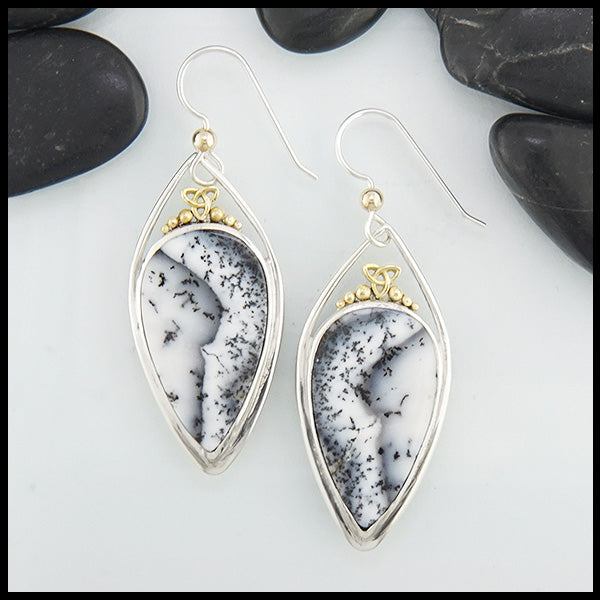 black and white opal earrings