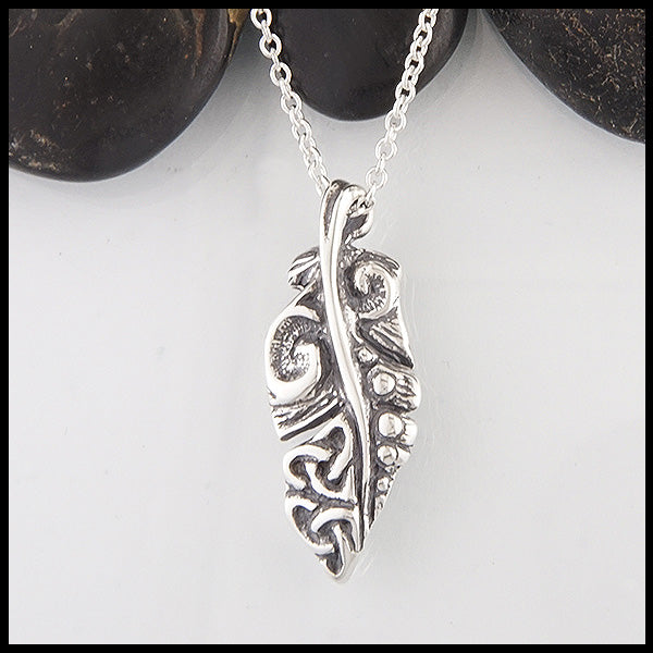 Celtic Feather Pendant by Walker Metalsmiths