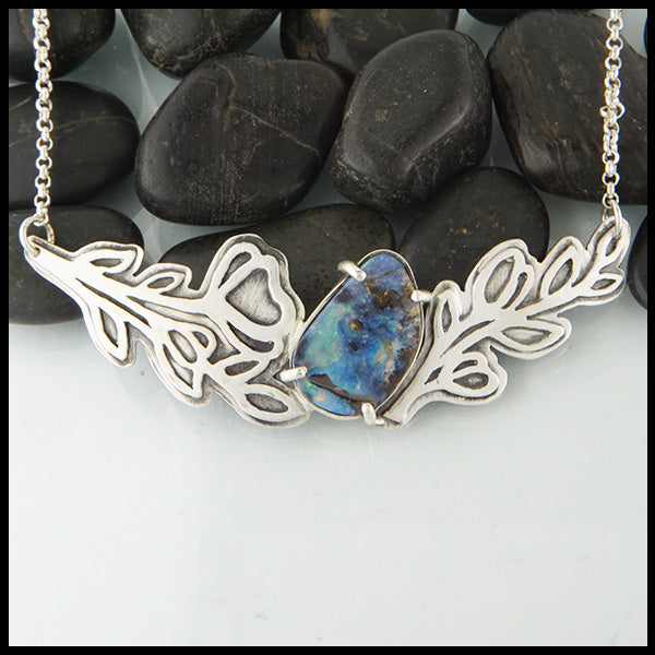 Walker Metalsmiths Opal Statement Necklace