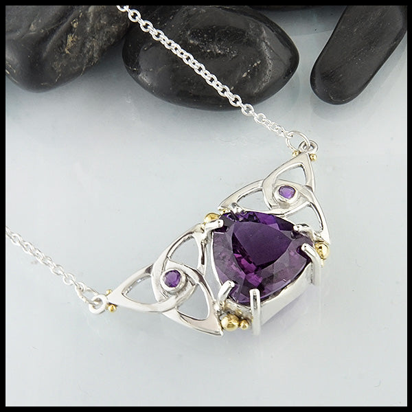 Walker Metalsmiths Amethyst Trinity Necklace