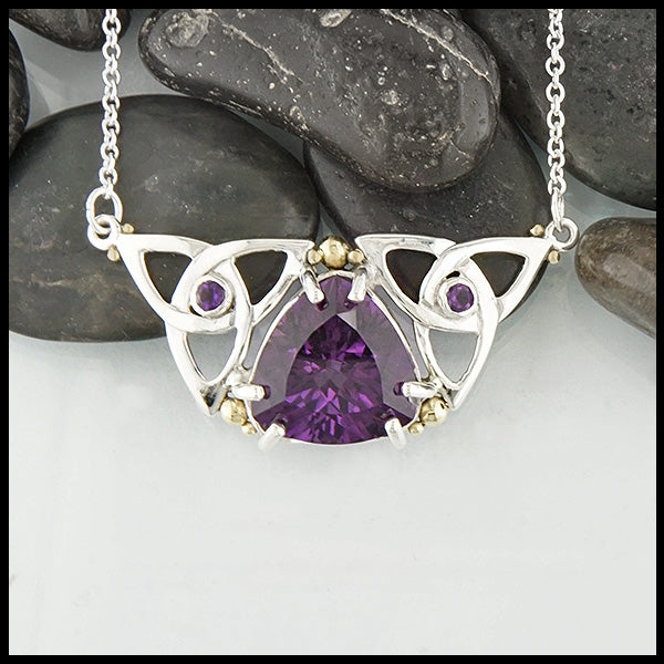 Trilliant Amethyst Necklace by Walker's Celtic Jewelry