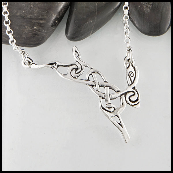 Celtic Rabbit Zoomorphic Necklace by Walker Metalsmiths