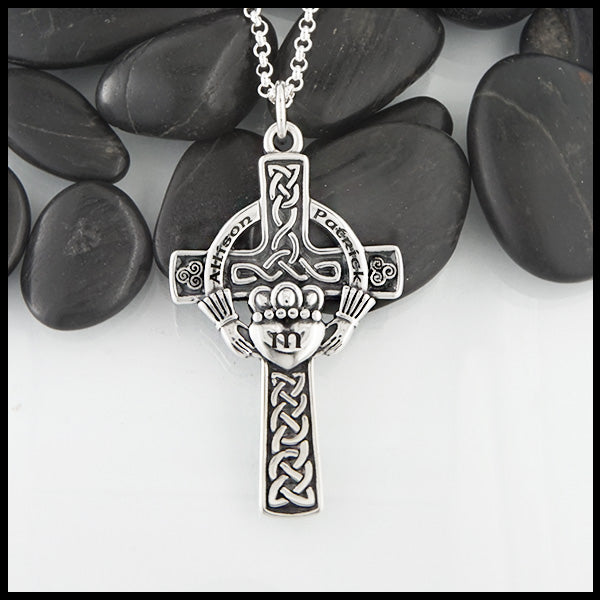 Personalized Claddagh Cross